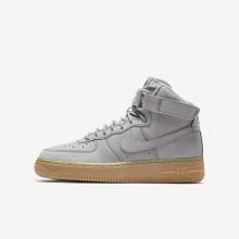 912ZNUCQ Nike Air Force 1 Lifestyle Ayakkabı Erkek Çocuk Gri/Siyah/Açık Kahverengi