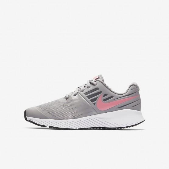 920CEPNR Nike Star Runner Running Shoes For Girls Atmosphere Grey/White/Gunsmoke/Sunset Pulse