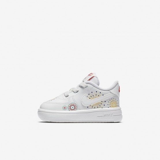 922TJMWH Nike Air Force 1 Lifestyle Shoes For Girls Summit White/Habanero Red/Kinetic Green