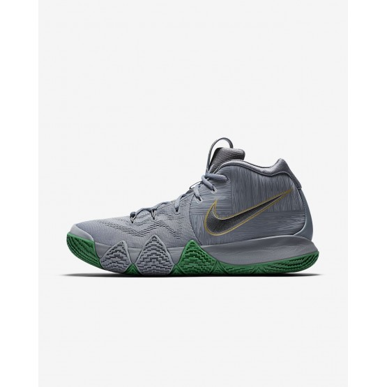 929TUKIO Nike Kyrie 4 Basketball Shoes For Men Flat Silver/Metallic Gold