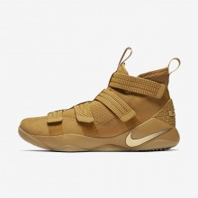 930PHDWI Nike LeBron Soldier XI Basketball Shoes For Women Mineral Gold/Metallic Gold