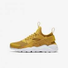 931VWFZB Nike Air Huarache Lifestyle Shoes For Boys Mineral Yellow/Pure Platinum/Vivid Sulfur