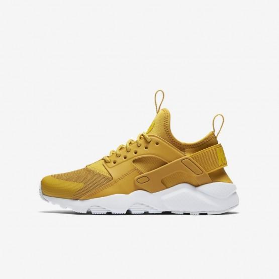 931VWFZB Nike Air Huarache Lifestyle Ayakkabı Erkek Çocuk Sarı/Platini