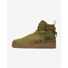 951GZAOQ Nike SF Air Force 1 Lifestyle Shoes For Men Desert Moss/Gum Medium Brown/Black