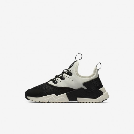 954DLMSI Nike Huarache Lifestyle Shoes For Boys Black/White/Sail