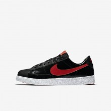 962QOWGS Nike Blazer Lifestyle Shoes For Girls Black/Bleached Coral/Speed Red