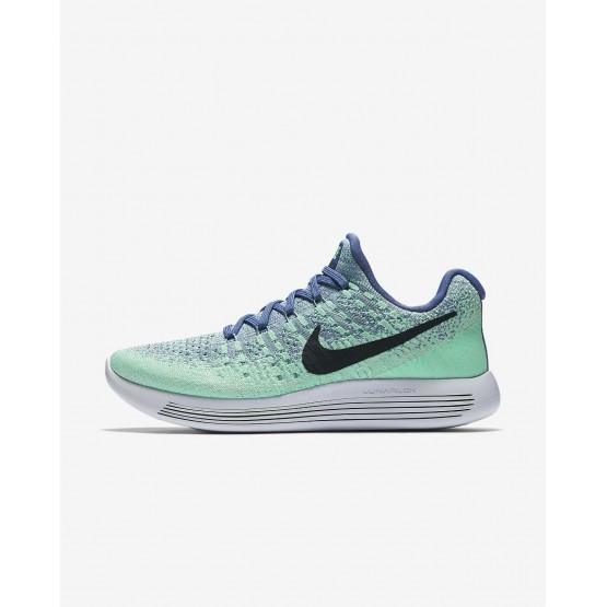 964ELTMW Nike LunarEpic Low Running Shoes For Women Blue Moon/Vapor Green/Green Glow/Dark Obsidian
