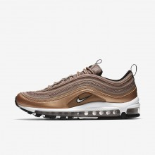966MUWKA Nike Air Max 97 Lifestyle Shoes For Men Desert Dust/Metallic Red Bronze/Black/White