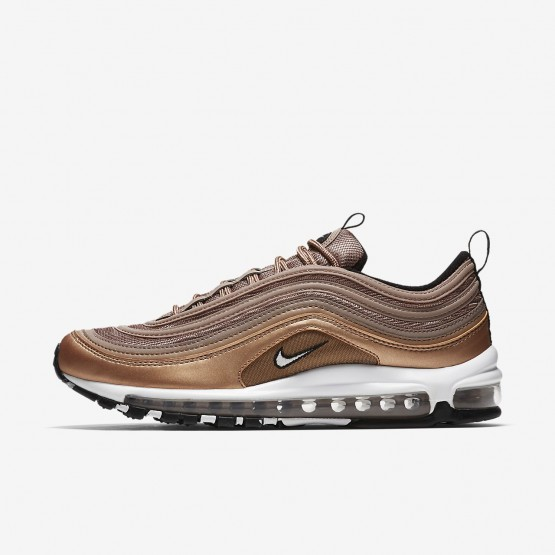 966MUWKA Nike Air Max 97 Lifestyle Shoes For Men Desert Dust/Metallic Red Bronze/Black/White