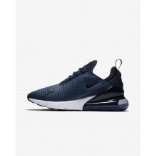 968UJPQH Nike Air Max 270 Lifestyle Shoes For Men Midnight Navy/White/Black