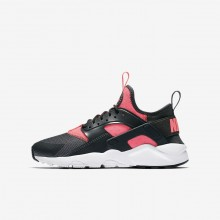 972UEJLQ Nike Air Huarache Lifestyle Shoes For Boys Anthracite/White/Hot Punch