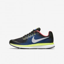 976ZUPGI Nike Zoom Pegasus Running Shoes For Boys Black/Volt/Racer Blue/Chrome