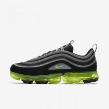 977PMVAT Nike Air VaporMax Lifestyle Shoes For Men Black/Metallic Silver/White/Volt