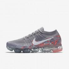 986RCQBA Nike Air VaporMax Running Shoes For Women Atmosphere Grey/White/Hot Punch