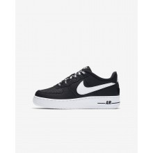 987IYWJC Nike Air Force 1 Lifestyle Shoes For Boys Black/White