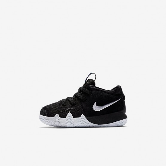 988QUBHC Nike Kyrie 4 Basketball Shoes For Girls Black/Anthracite/Light Racer Blue/White