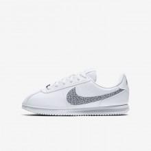988SDOCP Nike Cortez Lifestyle Shoes For Girls White/Gunsmoke/Atmosphere Grey