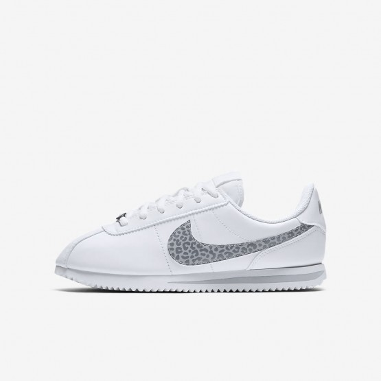 988SDOCP Nike Cortez Lifestyle Shoes For Girls White/Gunsmoke/Atmosphere Grey